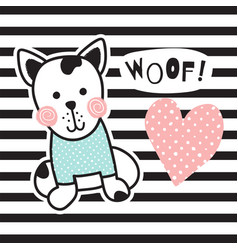 Striped dog vector