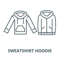 Sweatshirt hoodie line icon linear concept vector
