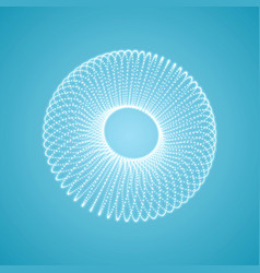 torus 3d grid molecular design vector image