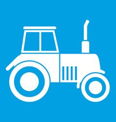 tractor icon white vector image