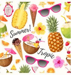 Tropic summer pattern vector