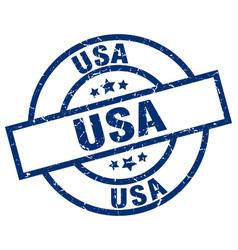 Usa blue round grunge stamp vector