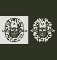 Vintage army monochrome label vector