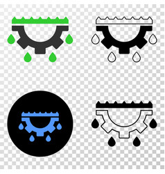 Water gear drops eps icon with contour vector