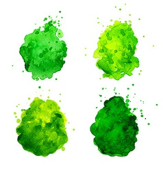 Watercolor splashes vector image