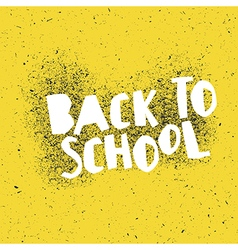 Back to school poster design with yellow vector image vector image