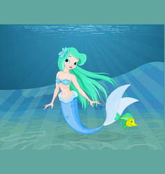 beautiful mermaid vector image vector image