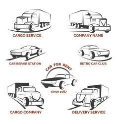 Car club logo set vector image vector image