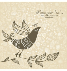 floral bird background vector image vector image