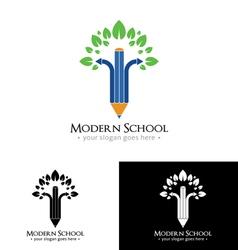 Modern school logo vector