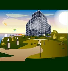 skyscrapers buildings in city vector image vector image