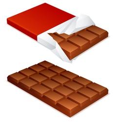 Chocolate bar vector