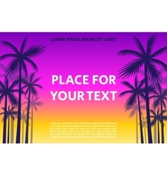 Poster With The Shadows Of Palm Trees vector image