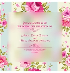 Roses floral wallpaper vector image