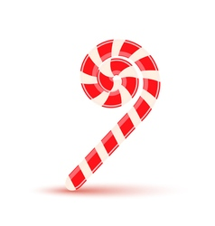 Sugar stick christmas candy isolated vector image vector image