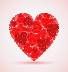 Valentine abstract red mosaic heart vector image