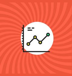 increase graphic icon simple line cartoon vector image
