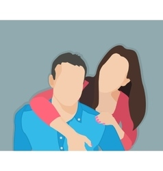 married couple vector image vector image