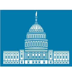 United States Capitol Hill vector image vector image