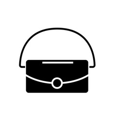 bag icon black sign on vector image vector image