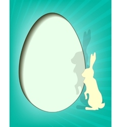 Design easter eggs with rabbit vector