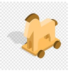 horse trojan isometric icon vector image