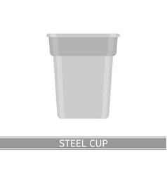 steel cup icon vector image vector image