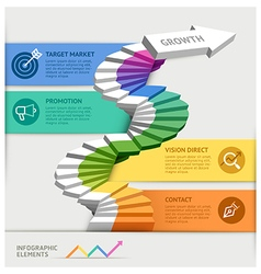 Steps to starting a business template vector image