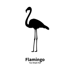 A silhouette of a flamingo vector