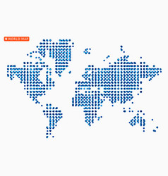 abstract map world from dot forms vector image