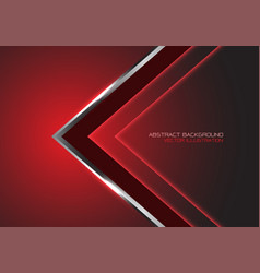 abstract silver black arrow direction on red vector image