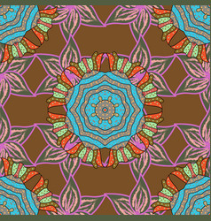 Abstract stylized colored mandala intricate vector