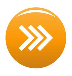 Arrow icon orange vector