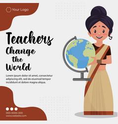 banner design of teachers day vector image