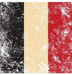 Belgium retro flag vector