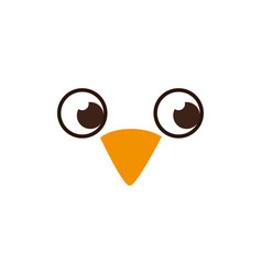 bird face isolated icon vector image