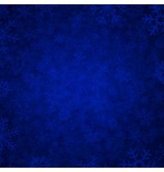 blue snow vector image