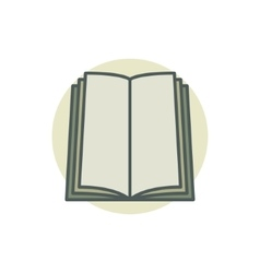 Book coloful icon vector