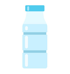 bottle water icon flat style vector image