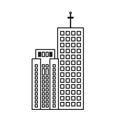 building real estate skyscraper outline vector image