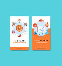 Business instagram design template with darts vector
