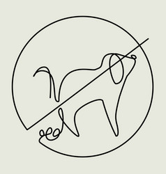 clean up after your pet one line drawing vector image