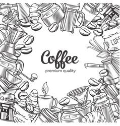 coffee page design vector image