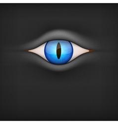 Dark Background with animal eye vector image