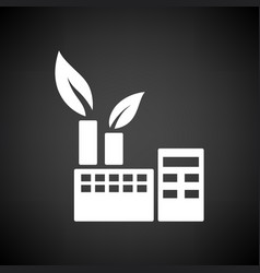 Ecological industrial plant icon vector