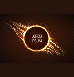 electric circle with lightning effect vector image
