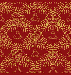 Elegant seamless pattern endless floral ornament vector