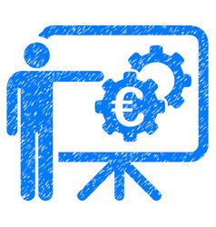Euro industrial project presentation grunge icon vector
