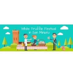 Festival of Truffle Festival in San Miniato Banner vector image