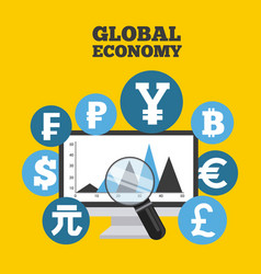 global economy vector image